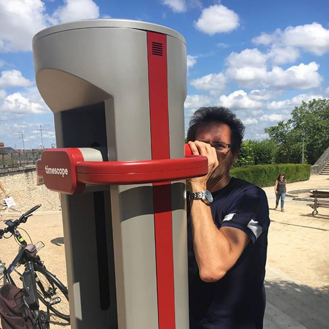 La borne de réalité virtuelle de Blois