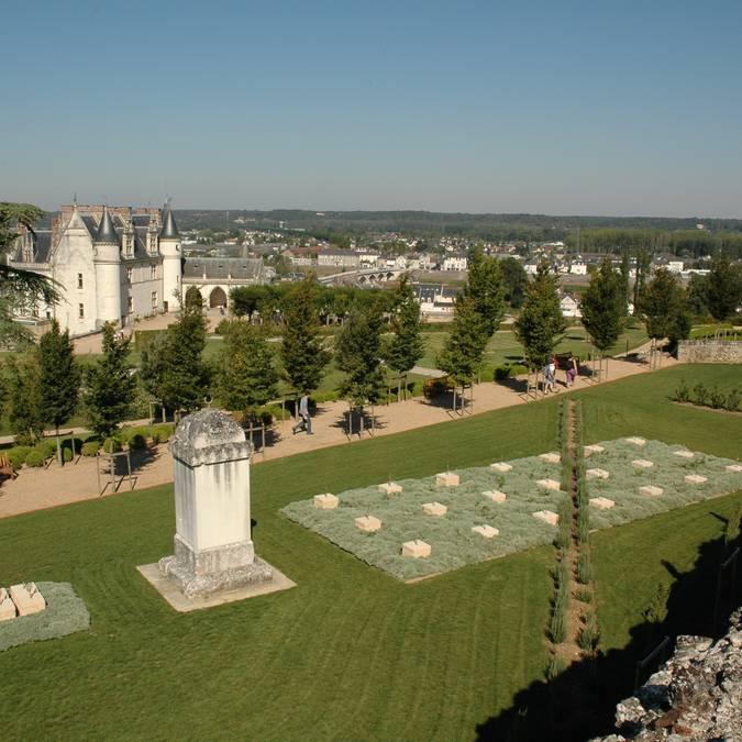 Les jardins méditerranéens du château d'Amboise. © OTBC