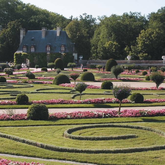 Le jardin Diane de Poitiers à Chenonceau. © DR