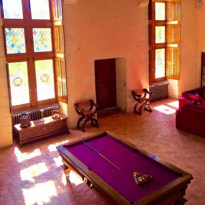 L'intérieur Renaissance de Château Gaillard. © OTBC