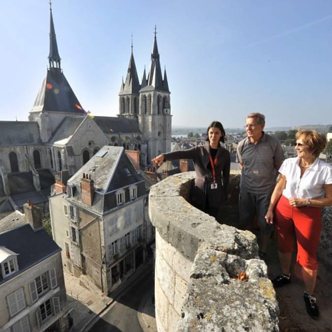 Balades et visites sur les hauteurs de Blois. © OTBC