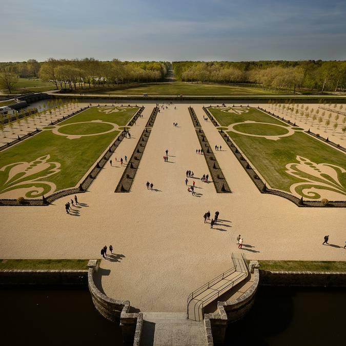 Les jardins à la française de Chambord. © Leonard de Serres